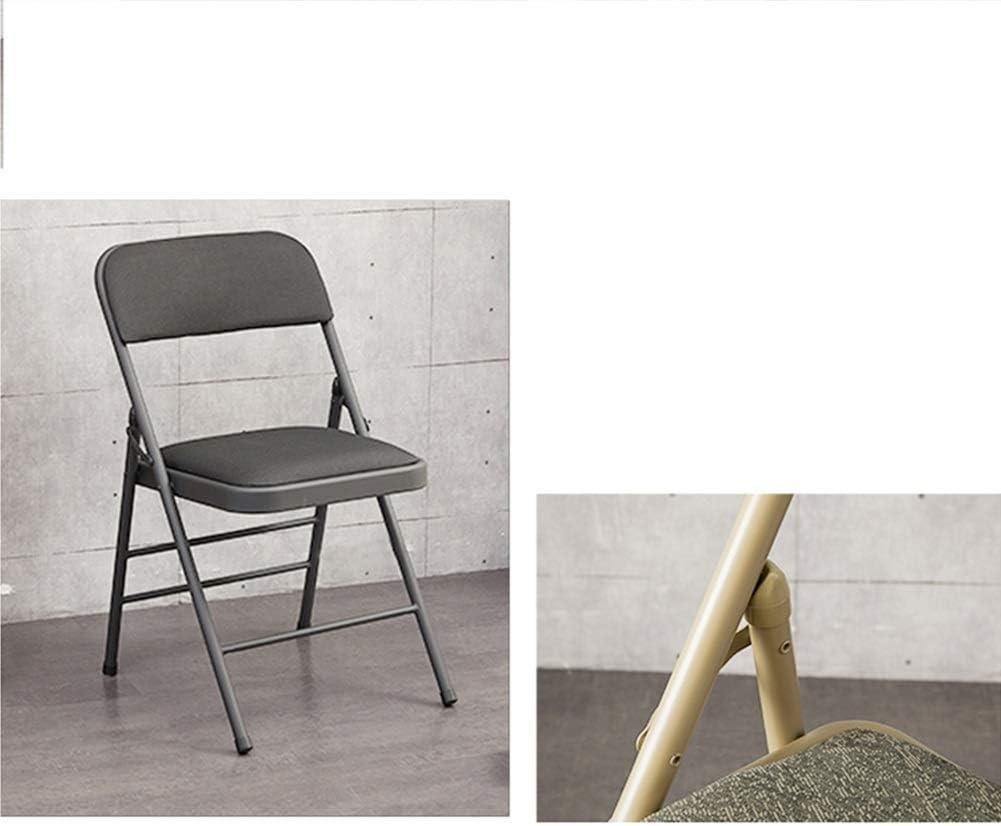 Chaise pliante Bureau à domicile Chaise en plastique Chaise for dossier chaise d'ordinateur de bureau adulte conférence tabouret de formation portable (Color : C) E