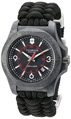 Victorinox Swiss Army Men's I.N.O.X. Titanium Swiss-Quartz Watch with Nylon Strap, Black, 24 (Model: 241776)