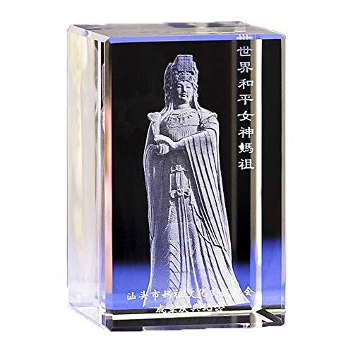 ZWWZ Dreidimensionaler Kristall im Carving Meizhou Sea God Mutter Ahnenstatue Home für das Display MISU