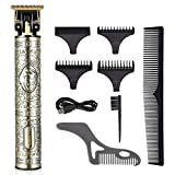 Hair Clippers for Men Hair Trimmer Professional Cordless Outliner T-Blade Beard Trimmer Barber...