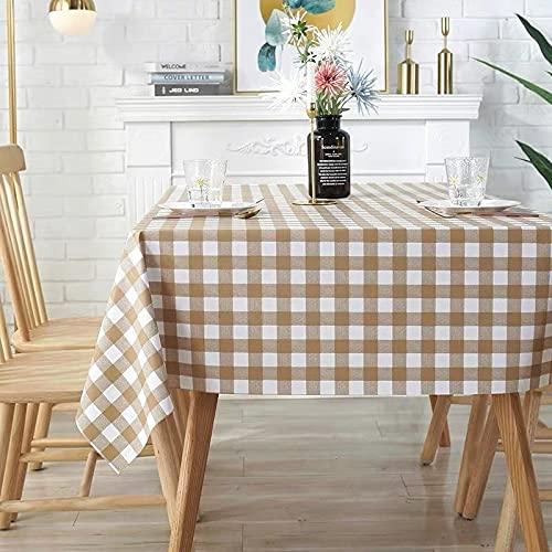 sans_marque Mantel impermeable, resistente al aceite y a prueba de derrames, cubierta de escritorio resistente a las manchas y lavable, utilizado para mesa de cocina de picnic al aire libre 90 x 90 cm