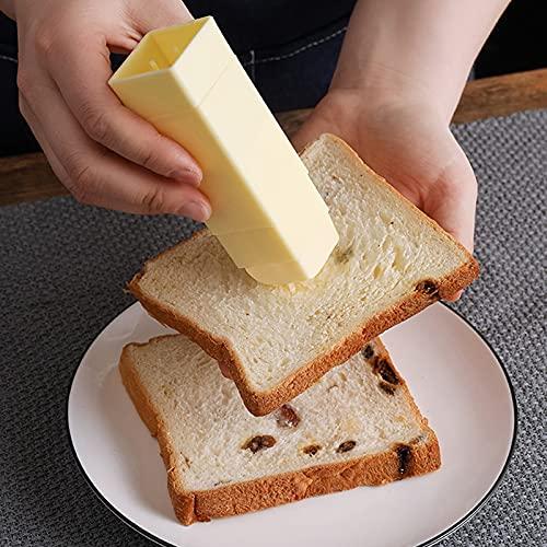 WENDAO Dispensador giratorio de mantequilla, palo de mantequilla, aplicador giratorio para utensilios de cocina, caja de mantequilla con tapa, varios colores
