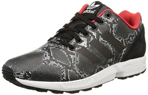 adidas Zx Flux W Herren Sneaker, Schwarz - Noir (Core Black/Core Black/Tomato F15-St), 37 1/3