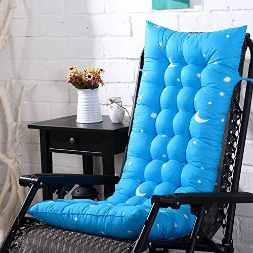 Anzkzo Comficent Aire Libre Cojin de Silla Larga para sillon Tumbona de jardin Cojin de Silla Larga Cojin para Tumbona Cojin de bano de Sol para Silla-110x40x8cm MI.