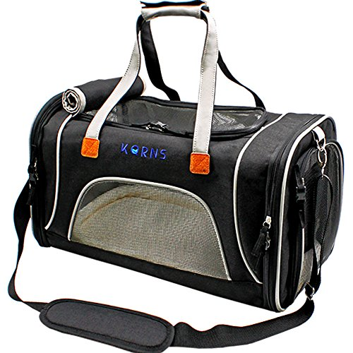 Pet Carrier for Dogs & Cats-Airline Approved Travel Pet Carrier-Soft Sided Cat Carrier Puppy Carrier with Fleece Bedding & Safety Lock -Best for Small Dog Kitten Rabbit Cat Travel Bag Fits Under Seat