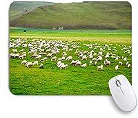 VAMIX マウスパッド 個性的 おしゃれ 柔軟 かわいい ゴム製裏面 ゲーミングマウスパッド PC ノートパソコン オフィス用 デスクマット 滑り止め 耐久性が良い おもしろいパターン (緑のリモートヒルサイド無限の草原の写真)