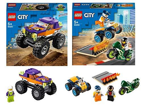 Legoo Lego City 60251 Monster Truck + 60255 Stunt Team - Juego de mesa (5 años)
