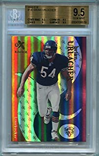 2000 Fleer E-X Brian Urlacher Rookie Chicago Bears #140 BGS 9.5 GEM MINT - Limited Edition #854/1500 (Graded Football Cards)
