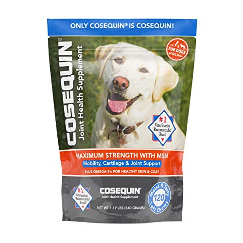 Nutramax Laboratories Cosequin Soft Chews with MSM and Omega-3s, 120 Ct