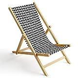 Ferocity Tumbona de Madera Plegable, Silla de Playa con Funda Intercambiable, diseño Zig-Zag 1 [119]