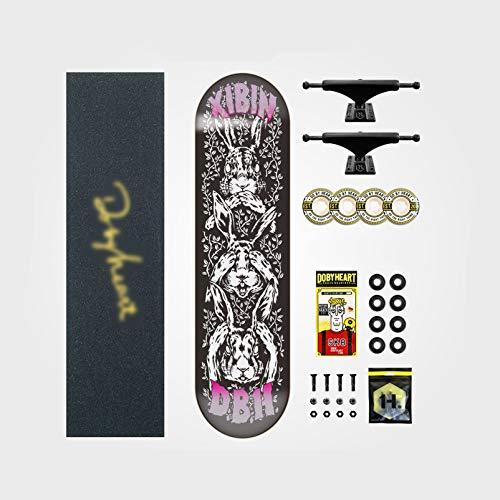 IJNBHU Classic Deck Tabla de Skateboard, 31'x 7.8' Skateboard para Principiantes, Cubierta de Arce Duro de 7 Capas, para niños Principiantes y Adultos jóvenes confirmado