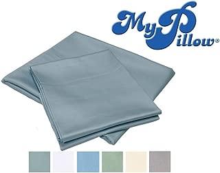 MyPillow Bed Sheet Set 100% Certified Giza Egyptian Long Staple Cotton (Queen, Light Gray)