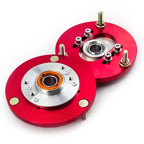 maXpeedingrods Domlager Camber Caster Plates Top Mounts for 3 Series E36 325 91–98 rot