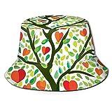 Summer Fisherman Sailor Fiddler Driver Hat, pintura de árbol de amor temática primavera con corazones floreciendo en ramas como frutas