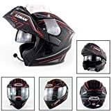 AMZ BCS Caschi Interfono Motocross Moto Interfono Bluetooth Casco Touring Interfono Vivavoce per Harley Davidson/Yamaha/Suzuki/Honda/KTM/BMW,S