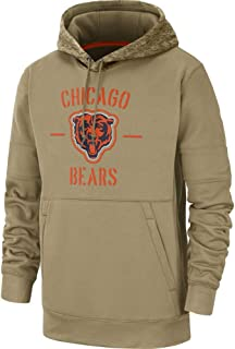 Brittany Chad Men's Chicago Bears Tan 2019 Salute to Service Sideline Therma Pullover Hoodie