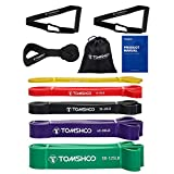 TOMSHOO Fitnessbänder, 5PCS...
