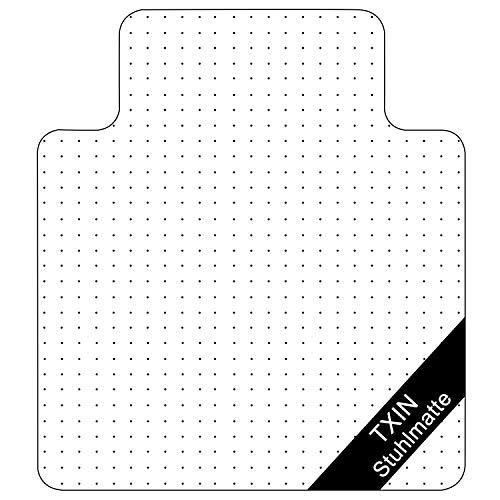 """TXIN Bodenschutzmatte, 36"""" x 48'' Transparent Stuhlunterlage für Teppich/Hartholz Boden, PVC Büromatten Bürostuhlunterlage für Home Office Schreibtisch Rolling Stuhl (Teppich mit Lippe)"""