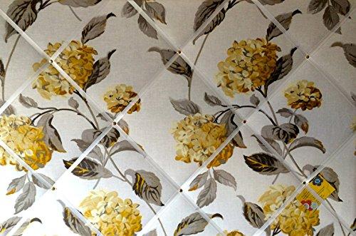 Extra Groß, 90 X 60 cm, Laura Ashley Hydrangea Camomile, Blumenmuster, Aus Leinen, Handgefertigt, Stoff, Memoboard
