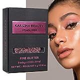 Glitzerlidschatten Biologisch Abbaubarer Headliner // Karizma Beauty Babyrosa Bio-Glitter Eco Glitter Augenglitter Loses Lidschattenpigment 6,5 g