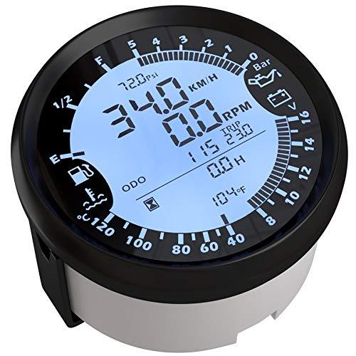 CAIZHIXIANG Calibrador del Metro de 85 mm del GPS del Coche del velocímetro del Barco del Carro Digital LCD Velocidad medidor de Nudos Brújula