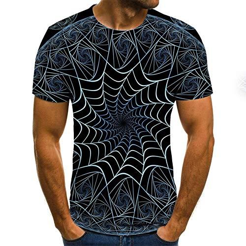T-Shirt 3D Tee Shirt T-Shirt d'été pour Hommes T-Shirts imprimés en 3D T-Shirt de Compression à Manches Courtes T-Shirt de fête pour Hommes/Femmes 6XL Txu-1217