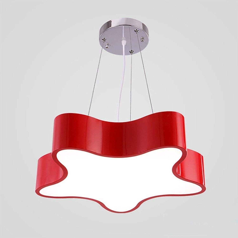 TZZ 30W LED-Schlafzimmer-Kronleuchter Eingebaute LED-Lichtquelle Restaurant Kronleuchter einfache Diffuse Kaffeehaus aus Holz Kunstbeleuchtung (Farbe   Rot, gre   Weies Licht)