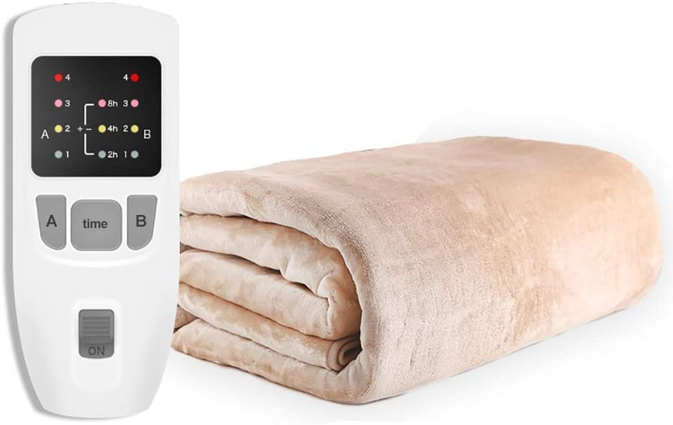 New product!! FMOGE Warming Blanket Ultra-Soft Electric and Breathable Heatin Max 89% OFF