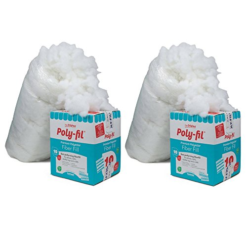 16 Oz Fairfield PF16B Poly-Fil Premium Polyester Fiber Two Pack White
