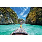 GREAT ART® XXL Poster – Longtail-Boot Trip ins Paradies