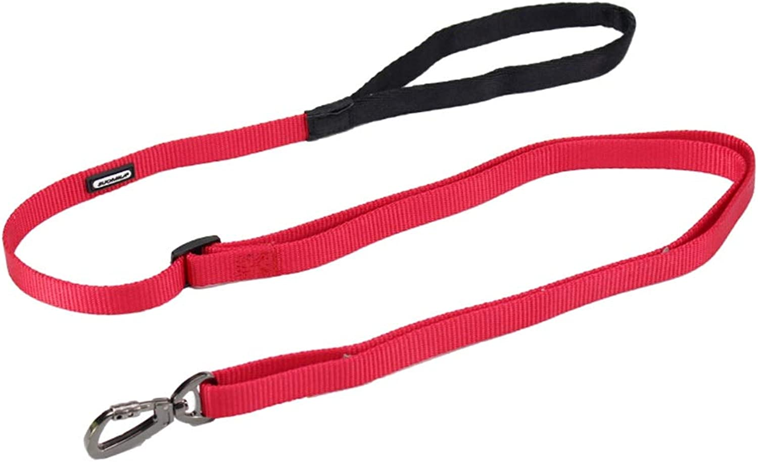 Dog Leash, Dog Lead 100180cm Adjustable for Large and MediumSized Dogs Walking Traction Rope (color   RED, Size   S)