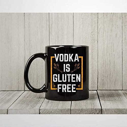 N\A Wodka ist glutenfreie Kaffeetasse Lustige Wodka-Teetasse für alkoholische Männer Frauen Wodka-Trinker präsentiert Wodka-Tasse 11oz