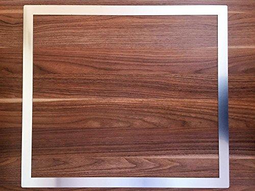 Rivanto Edelstahl Adapterrahmen für Kochfelder, Edelstahlrahmen 62,2 x 55,2 x 0,1 cm, für Arbeitsplattenausschnitt, Made in Germany