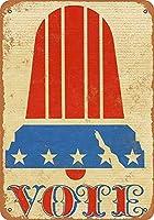 Vote Liberty Bell 金属板ブリキ看板警告サイン注意サイン表示パネル情報サイン金属安全サイン