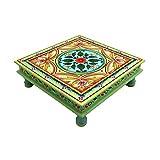 Couchtisch Beistelltisch Sofatisch Dekotisch Magoholz/MDF Holz Handbemalt Orientalisch Indisch Bunt Handarbeit Deko Mandala (Mandala)