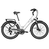 Legend eBikes Milano Bicicleta Eléctrica Urbana con Rueda de 26 Pulgadas, Batería 36V 14Ah (504Wh), Blanco Artic