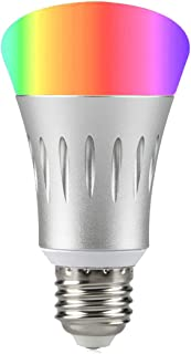 Wi-Fi Smart LED Light Bulb, Dimmable 60W Equivalent(7W), Smartphone Controlled Multicolored Color Changing Lights, No Hub Required, Work with Amazon Alexa