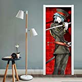 Sprinong Puerta Pegatinas Mural- Chico De Personaje De...