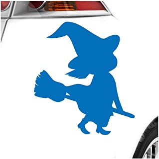 KIWISTAR Aufkleber   Hexe auf Besen Halloween Grusel Horror   Autoaufkleber Sticker Bomb Decals Tuning Bekleben
