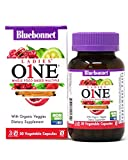 Bluebonnet Nutrition Ladies One Whole Food-Based Multiple Multivitamin & Multimineral Daily Women's Health & Immune Support Supplement, Organic Veggies, Coenzyme B's, Adaptogen & Enzyme, 30 Veggie Cap