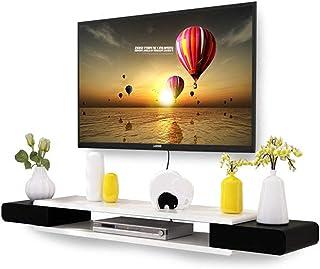 Mueble de TV Montado en la Pared con Estante Flotante Estante Abierto para Estante de Almacenamiento de Fondo de Pared R...