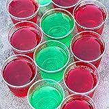 500 Hartplastik Schnapsgläser (30 ml) - Einweg, Wiederverwendbar, Klar wie Glas & Bruchsicher Kunststoff Shotgläser - für Schüsse, Wodka-Gelee, Partys, Hochzeiten, BBQs, Weihnachten - 100% Recycelbar - 4