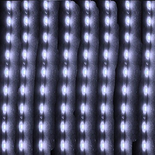 Mintice™ 8 X blanc 12V 15 Led véhicule automobile calandre 30cm de voiture bande de lumière underbody souple imperméable