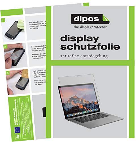dipos I 2X Schutzfolie matt kompatibel mit Apple MacBook Pro 13 Zoll (2019) Touchbar Folie Displayschutzfolie