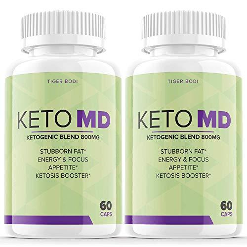 (2 Pack) Keto MD from Shark Tank Pills Slim BHB Advanced 800 mg Reviews (120 Capsules)