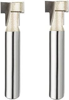 Adiyer 2 Pcs 1/4-inch Shank 3/8-inch Diameter Keyhole Bit Carbide Tipped T-Slot Cutter Router Bit