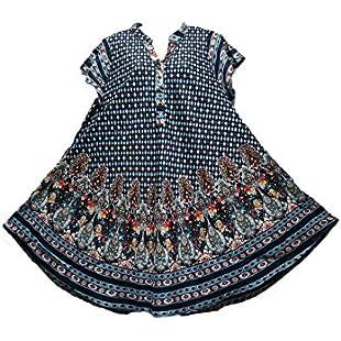 Customer reviews Miss Trendy Women Dress Tunic Ladies Summer Beach top Kaftan Hippie Boho Party Dress #7181v (Navy - 7181-3V, ONE Size (Regular))