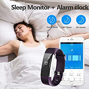 Lintelek Fitness Tracker with Heart Rate Monitor, Activity Tracker with Connected GPS, IP67 Waterproof Smart Band with Calorie Counter, Pedometer for Men, Women and Gift
