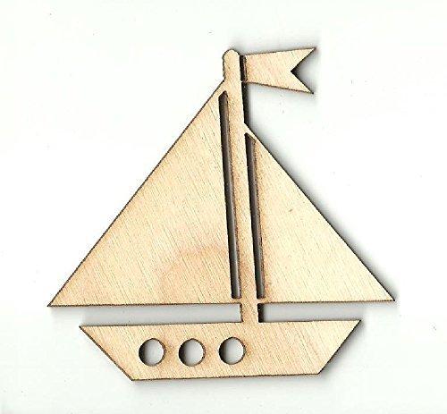 Sailboat Unfinished laser Cut out, barca a vela a forma di legno, artigianato in legno, barca a vela Sailboat silhouette, decalcomania, barca a vela Gift.