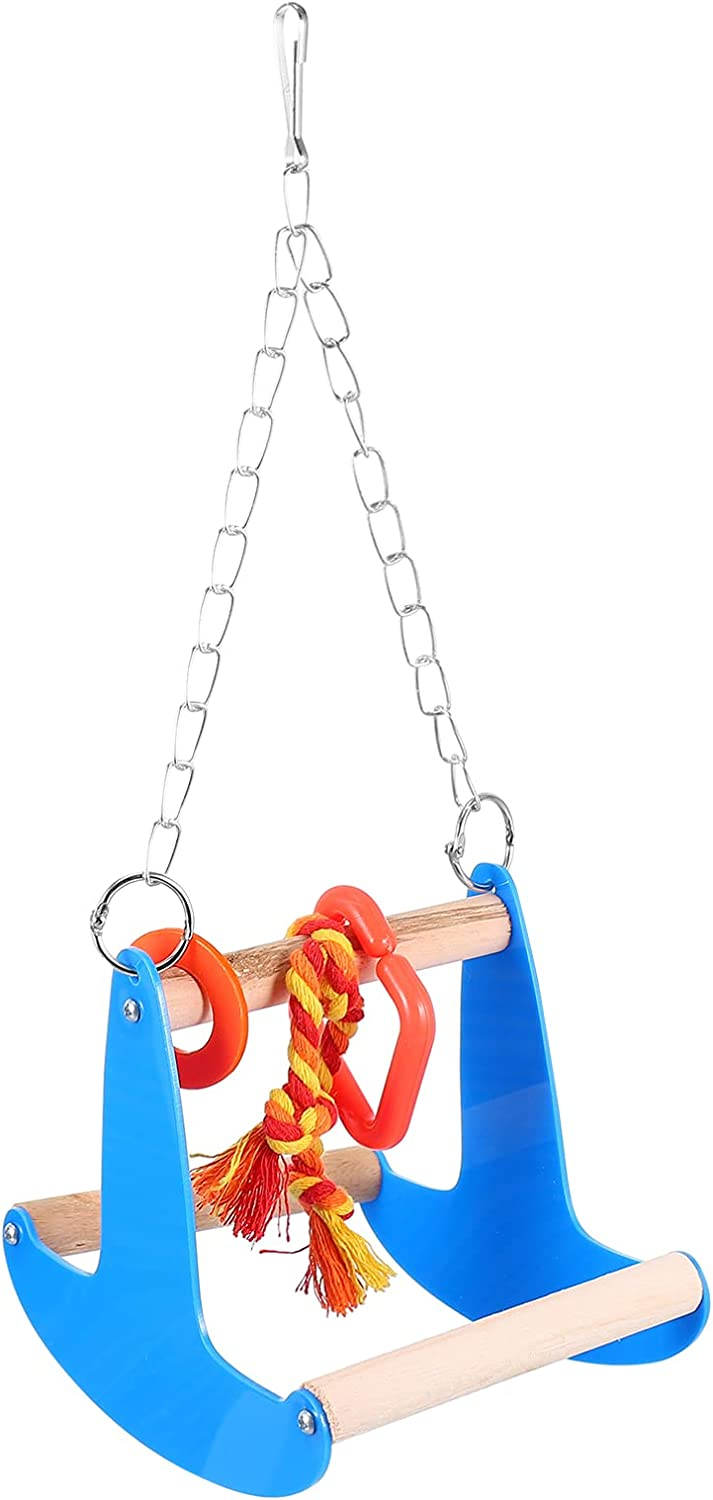 NUOBESTY Bird Swing Toys Parrot Chewing Standing Toy Charlotte Mall Max 56% OFF Hammoc